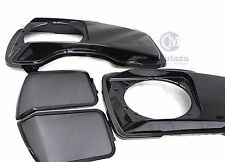 Mutazu Metal Grill CVO Style 6 x 9 Speaker Lids for Harley Touring Saddlebags