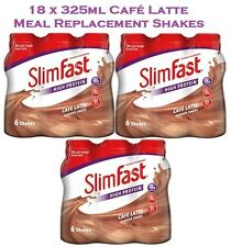 Slim Fast Cafe Latte Meal Replacement Shake Multipack 18 Bottles x 325ml