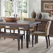 Rustic Dining Table Kitchen Dinette Solid Wood Distressed Farm House