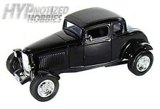 MOTORMAX 1:18 1932 FORD FIVE WINDOW COUPE DIE-CAST BLACK 73171
