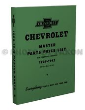 Chevy Master Parts Book 1936 1937 1938 1939 1940 1941 1942 Chevrolet Car Truck