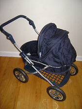 Vintage English Style Pottery Barn Kids Pram Baby Doll Carriage Stroller Blue