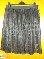 "Next Micro-Pleated Lace Overlay Fully Lined Skirt  UK 12 L25"" Black BNWT"