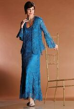 Soulmates style 1068 Size XL Teal Special Occasion-Mother of the Bride