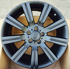 "20"" MATT BLACK ALLOY WHEELS 5X120 FITS RANGE ROVER SPORT LAND ROVER VOGUE"