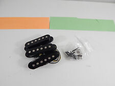 Genuine Fender Stratocaster Strat Set of 3 Single Coil Guitar Pickups Black
