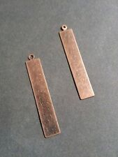 Metal Stamping Blanks Antiqued Copper Metal Blank Tags Charms Pendants 10pc