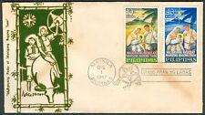 1967 Philippines MALIGAYANG PASKO AT MANIGONG BAGONG TAON First Day Cover - B
