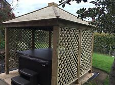 Gazebo Shelter Jacuzzi Cover Wooden Very Heavy Solid Structure Spa Hot Tub Wood