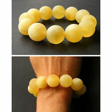 Armband, Bernstein, MILKY, matt, Kugel, Balls, Beads Amber Bracelet NEU