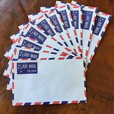 Vintage Retro JET AIR MAIL Par Avion Unused 10x Envelopes Scrapbook Craft Letter