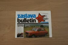 ZASTAVA BULLETIN 750S, 1100 AND SUPER BROCHURE / PROSPEKT