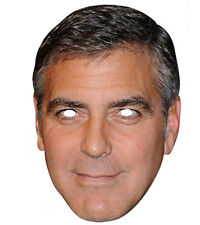 George Clooney Celebrity Hollywood Actor Single CARD 2D Party Face Mask er