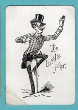 Single Swap Playing Card JOKER G64 MAN TOP HAT CANE THE LITTLE JOKER ANTIQUE OLD