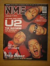 NME 2000 OCT 14 U2 COLDPLAY SPINAL TAP DURST ALL SAINTS