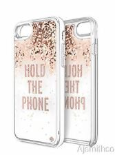 Apple iPhone 7 Kate Spade NY Liquid Glitter - Hold the Phone/Rose Gold/Clear-New