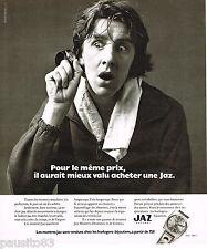 PUBLICITE ADVERTISING 055  1973  LES montres JAZ  pour homme