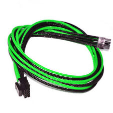8pin CPU Green Black Sleeved PSU Cable EVGA Silverstone Coolermaster Seasonic