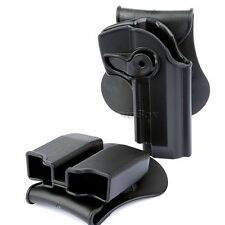 Right Hand Pistol Holster Paddle & Double magazine Pouch Ammo Case Clip for M92