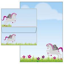 Eule auf Pferd Motivpapier Briefpapier 20 Blatt A4 + 10 Kuverts+ Aufkleber Pony