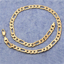 Antique 18K Yellow Gold Plated Real Man Fashion Cheap Figaro Chain Free Shipping