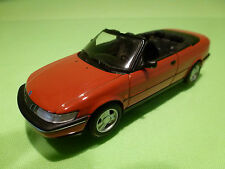 MINICHAMPS SAAB 900 SE 1995 CONVERTIBLE CABRIO - RED 1:43 - RARE - EXCELLENT