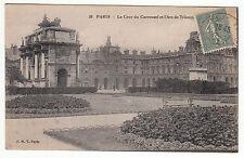 CARTE POSTALE PARIS LA COUR DU CARROUSEL ET L ARC DE TRIOMPHE