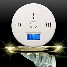 LCD Kohlenmonoxid Melder Gaswarner CO Melder Alarm Detektor Rauchmelder Neu