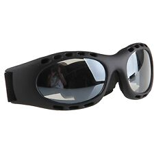 Adults Black Frame Motorcycle Bicycle Cycling Sport Goggles Anti-UV Clear Lens