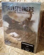 TRANSFORMERS 4 AGE EXTINCTION 3D+2D Bluray BLUFANS Lenticular STEELBOOK Tri-pack