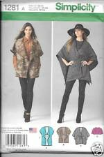 1281 LADYS LOOSE JACKETS TWO LENGHTS  SIZE XS-XL SIMPLICITY  SEWING PATTERN 1281