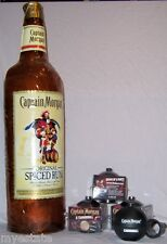 Lot 4 Captain Morgan Limited Edition Plastic CANNONBALL CUPS & inflatable Bottle