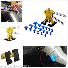 Car Paintless Golden Dent Lifter Removal & 18 Blue Glue Tabs & 2 Pcs Wrench Tool