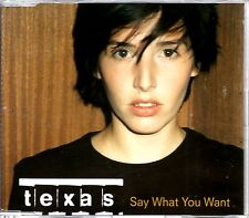 TEXAS - SAY WHAT YOU WANT - 4 TRACK CD SINGLE - MINT