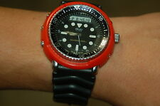 seiko h558 RED  DURABLE PLASTIC shroud + 3 screws digital analog diver tuna