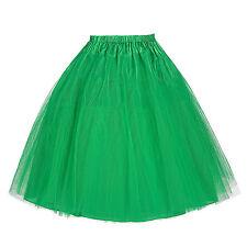 2 Layer Short Mini Tulle Under Skirt Slips Crinoline Petticoat Dress Christmas