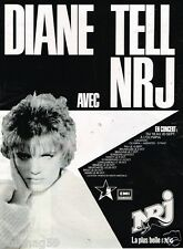 Publicité advertising 1986 Concert Diane Tell avec radio NRJ