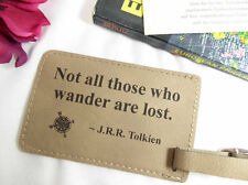 Engraved Leather ID Luggage Tag Suitcase Baggage Tag Travel Gift Tolkien Quote