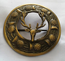 """Men's Antique Stag Head Fly Palid Brooch 3""""/Kilt Fly Plaid Brooches Stag Head"""