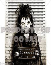 Too Fast Lydia Wiona Ryder Mugshot 11 X 17 Tattoo Art Poster Print Beetlejuice