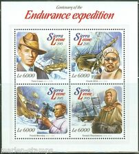 SIERRA LEONE 2015 CENTENARY OF THE ENDURANCE EXPEDITION SHACKLETON SHEET MINT NH