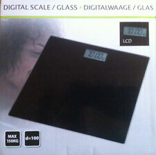 Personenwaage  LCD Digital Glas Colour  Max 150 kg in Schwarz