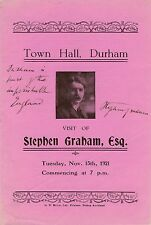 Stephen Graham lecture at the Town Hall, Durham, November 1921.