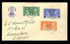 ST HELENA 1937 CORONATION PICTORIAL FDC to SOUTH AFRICA