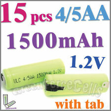 15 4/5 1500mAh AA NiMH 1.2V Rechargeable Battery w/ tab Green