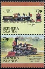 1867 Chicago Rock Island & Pacific Railroad 4-4-0 Train Stamps (Bernera)
