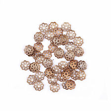 Wholesale 500pcs Silver Gold Plated Metal Filigree Flower Bead Caps 6mm Findings