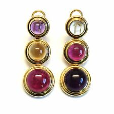 Tiffany & Co Paloma Picasso Gold Gemstone Cabochon Earrings
