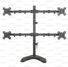 "EZM Quad 4 LCD LED Monitor Mount Stand Free Standing - up to 27"" (002-0015)"