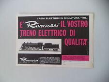 advertising Pubblicità 1965 TRENI RIVAROSSI